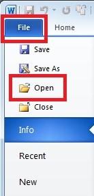 """Click """"Open"""""""