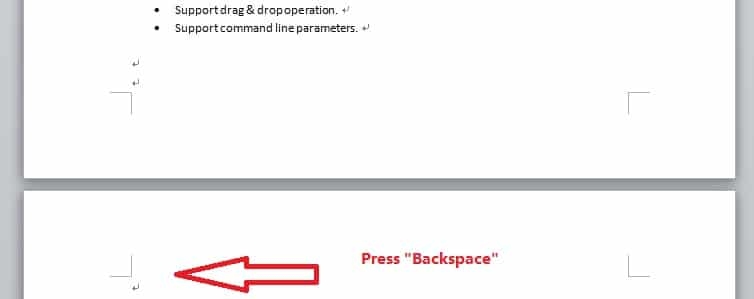 "Press ""Backspace"" key"
