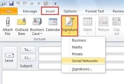 Choose a signature