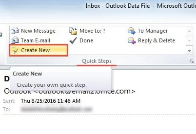 How to create a shortcut to an email template in outlook data create a new quick step maxwellsz