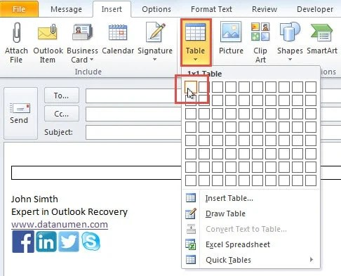 How to Add Background Color to Your Outlook Signature - Data