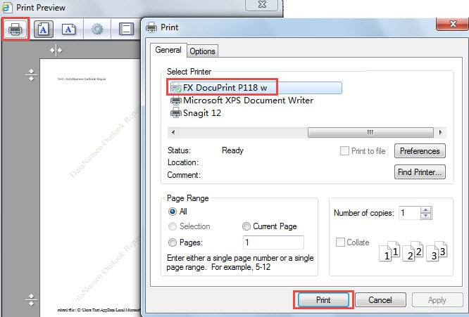 How to Print Your Outlook Email with Background Image - Data ...