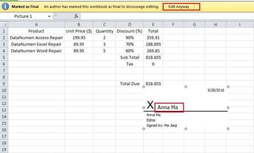 How to Add Digital Signatures to Your Excel Files - Data