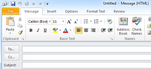 "No ""Send"" Button in Outlook"