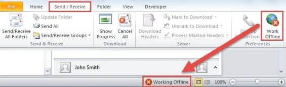 Work Offline