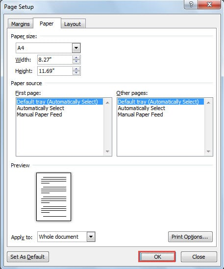 how to change background color in word and print