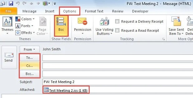 3 Easy Tips to CC or BCC an Outlook Meeting Invitation - Data