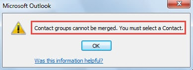Contact Groups cannot be merged.