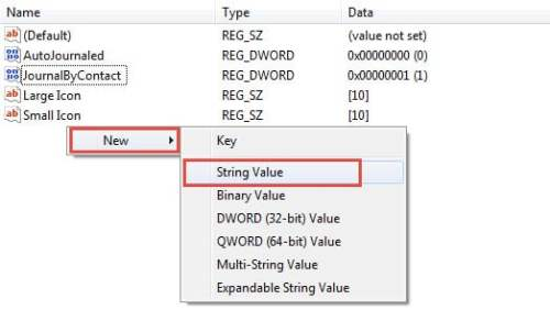 Create a New String Value under Phone Call