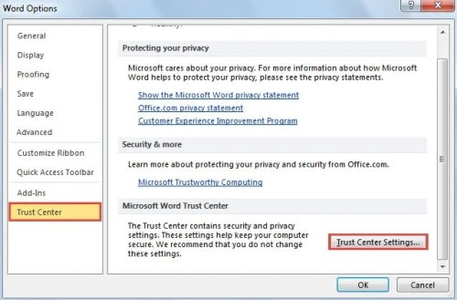 2 Steps to Disable Protected View When Opening Outlook