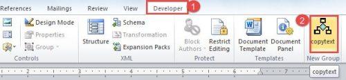 "Click ""Developer"" -> Click the Macro Just Recorded"