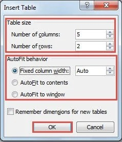6 Different Methods to Create a Table in Your Word Document - Data ...