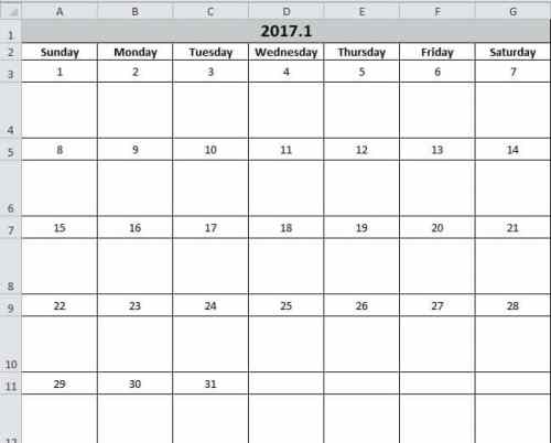 Calendar Worksheet Excel : How to create a calendar in your excel worksheet with vba