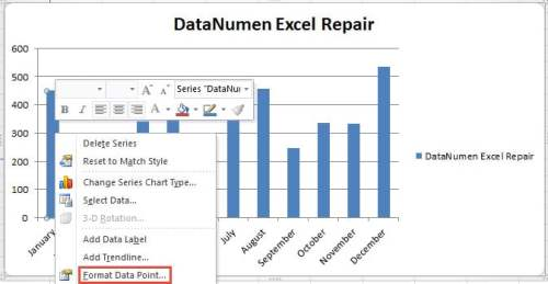 how to change colour of data points in excel