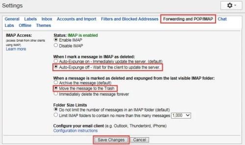Change Gmail Settings