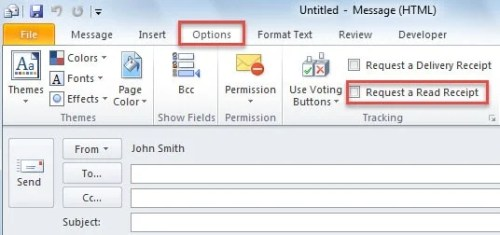 How to Auto Request Read Receipt When Sending Specific Emails in
