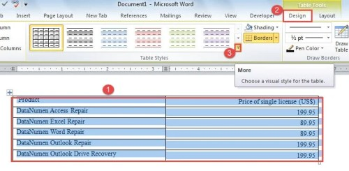 2 methods to alternate row or column colors in your word table select table click design ibookread Download