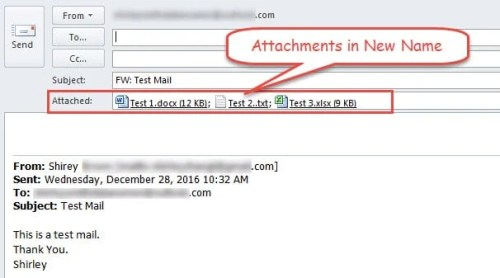 Attachments in New Name
