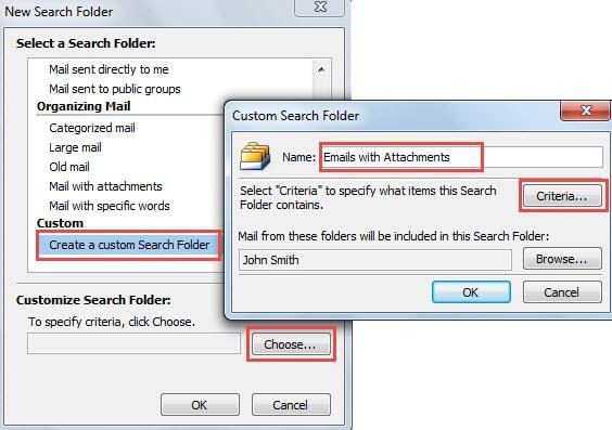 Create a Custom Search Folder