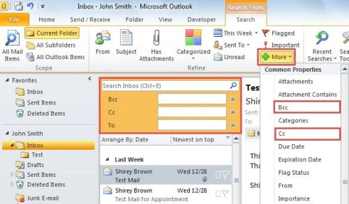 how to use bcc in outlook
