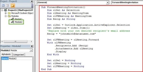 3 methods to forward a meeting invitation without notifying the vba codes foward a meeting invitation stopboris Images