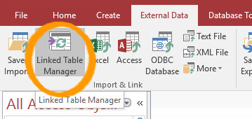Access updating using linked tables