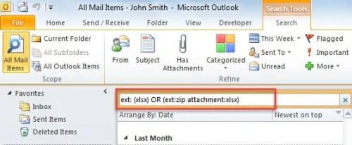 Find Email Attachments with Specific File Types inside Zip Files