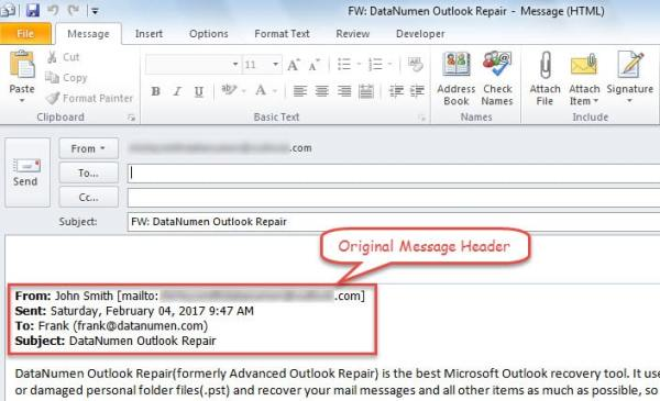 Include the Original Message Header in Forward