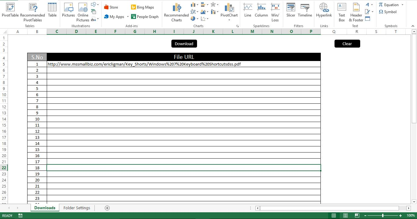 How to Create a Download Manager with Excel VBA - Data