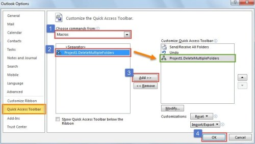 How to Quickly Delete Multiple Outlook Mail Folders in