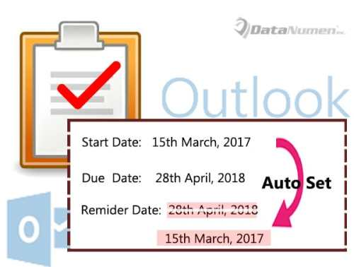 Auto Set the Reminder Date to Start Date Instead of Due Date in Outlook Task