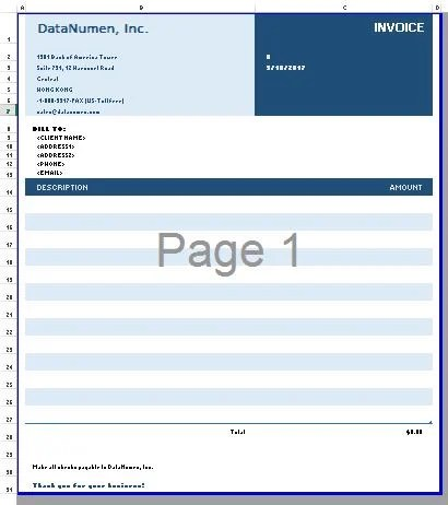 Sheet1 To Carry The Invoice Template