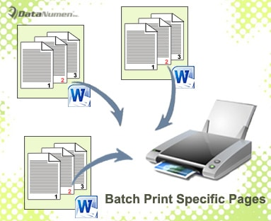 Batch Print Specific Pages of Multiple Word Documents