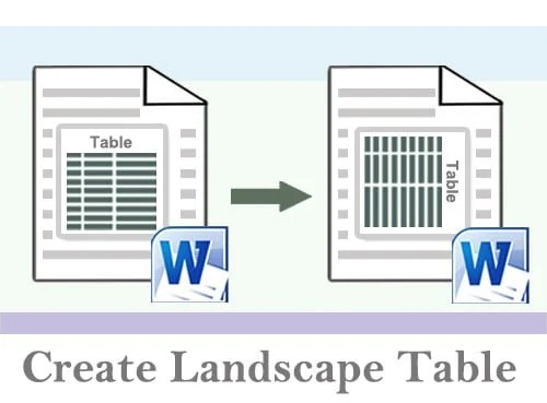 4 Smart Ways to Create a Landscape Table in Your Word