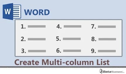 How to make columns in text box word