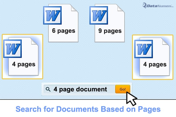Search for Word Documents with Specific Number of Pages