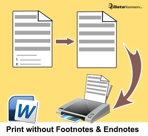 Print Your Word Document without Footnotes and Endnotes
