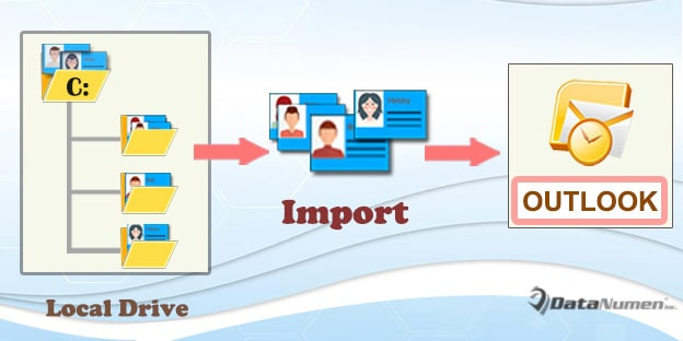 Batch Import All vCards from a Local Disk into Outlook