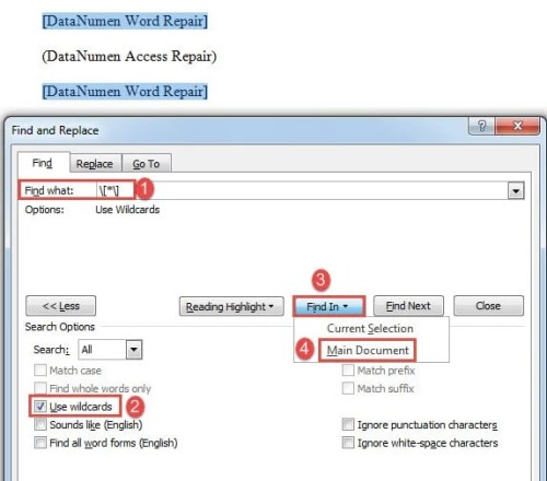2 Ways to Batch Delete Brackets and Inside Spaces in Your Word