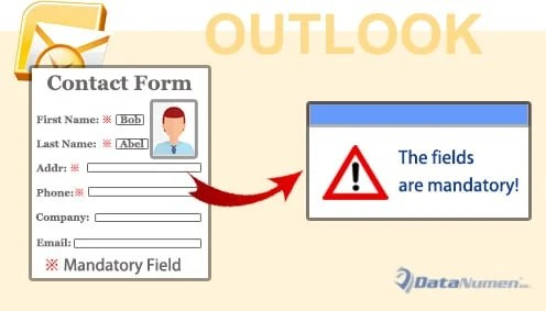 Make Some Fields Mandatory When Filling in an Outlook Contact