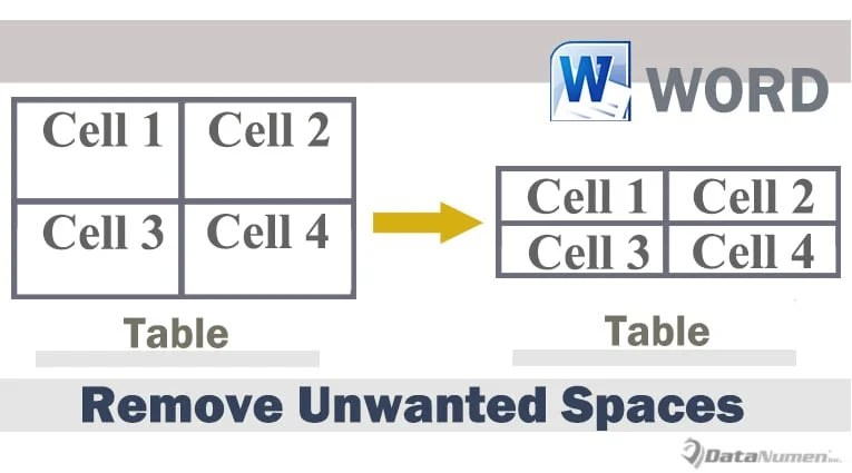 Remove Unwanted Spaces in Table Cells