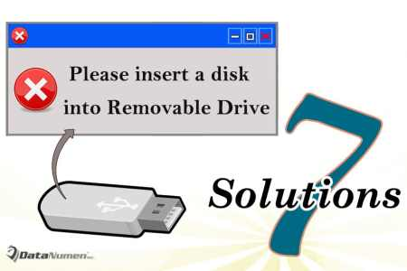 "7 Solutions to ""Please insert a disk into Removable Drive"" Error when Accessing USB Flash Drive"