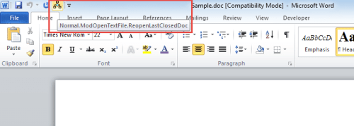 3 Smart Ways to Quickly Reopen Last Closed Word Document via VBA