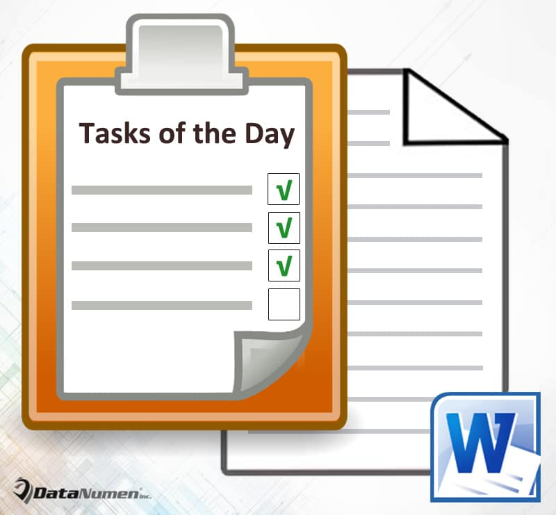 Get Tasks of the Day in Word
