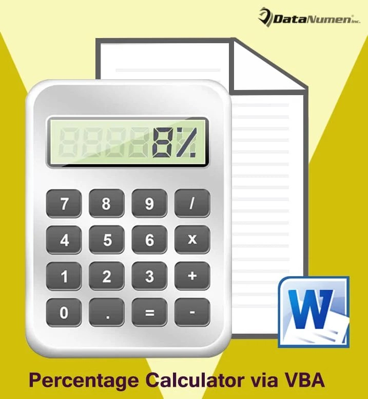 Make a Percentage Calculator in Your Word