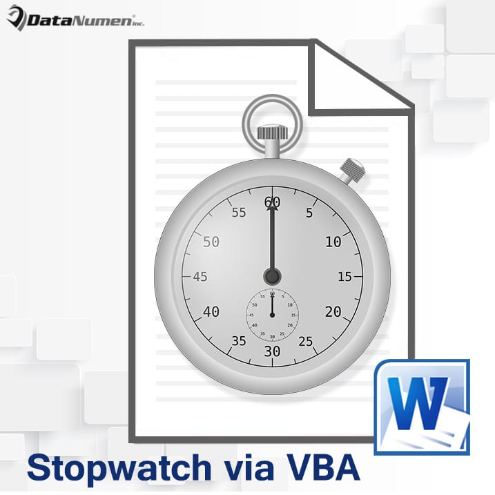 Make a Stopwatch for Examinations in Your Word via VBA