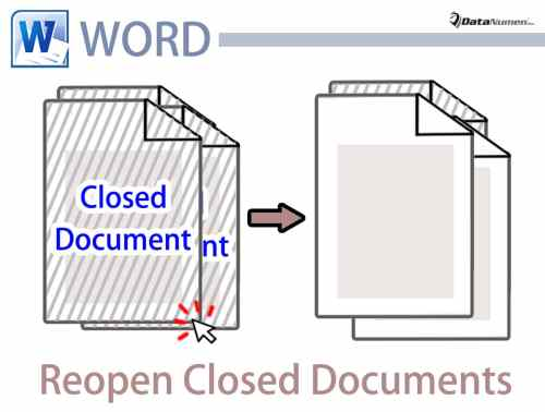 Reopen Recently Closed Word Documents