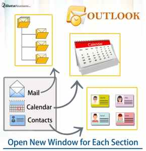 Open & Access Different Outlook Areas in Different Windows at the Same Time via VBA