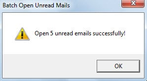 Prompt Unread Emails Opened