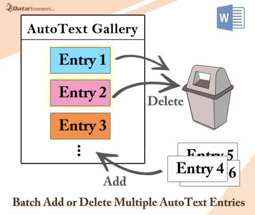 Batch Add or Delete Multiple AutoText Entries